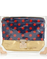 Finds sarah and bred pvc and canvas clutch medium 75589
