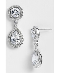 Nadri Crystal Cubic Zirconia Drop Earrings