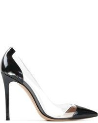 Clear Leather Pumps