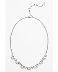 Givenchy Crystal Necklace Silver Clear Crystal