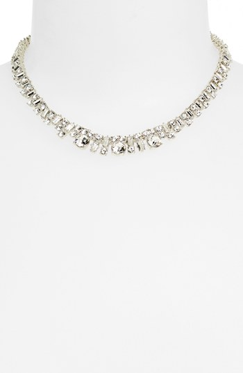 kate spade new york Estate Sale Crystal Collar Necklace Silver Clear