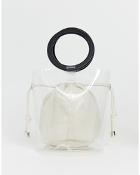 Bershka Bag With Inner Pouch In Clear