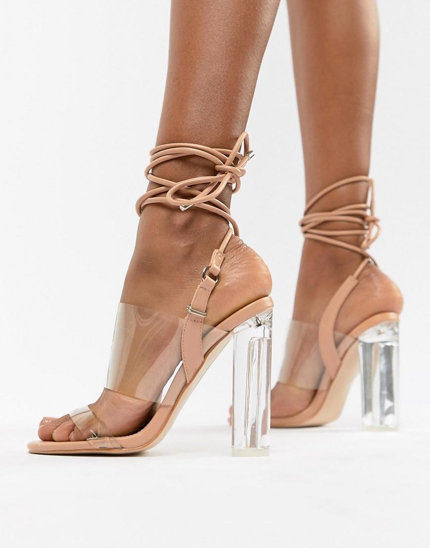 ef349dd9330 Trance Blush Clear Detail Sandals