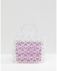 ASOS DESIGN Beaded Boxy Clutch Bag With