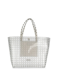 RED Valentino Red Stud Embellished Tote Bag