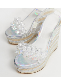 Clear Rubber Wedge Sandals