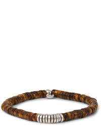 Tateossian Tigers Eye And Silver Bead Bracelet