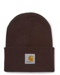 Carhartt WIP Logo Appliqud Ribbed Knit Beanie