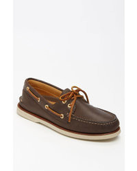 Dark brown boat shoes original 6731565