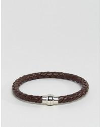 Jack and Jones Jack Jones Jackrick Clasp Bracelet In Brown