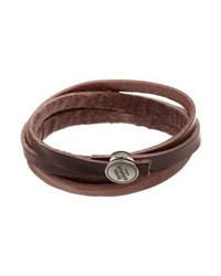 Spiral bracelet brown medium 4137795