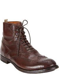 Dark brown brogue boots original 6703369