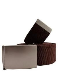 Dark Brown Canvas Belt