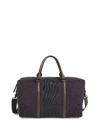 Dark Brown Canvas Duffle Bag