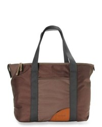 Dark Brown Canvas Tote Bag