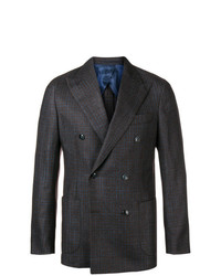 Barba Check Double Breasted Blazer
