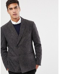 Selected Homme Slim Fit Double Breasted Blazer With Fine Grid Check
