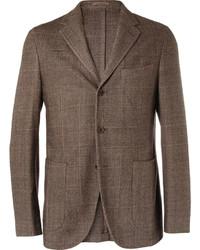 Boglioli Coat Slim Fit Unstructured Wool Cotton And Cashmere Blend Blazer