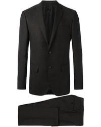 Dark Brown Check Wool Suit