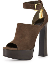Tom Ford Suede Padlock Chunky Sandal