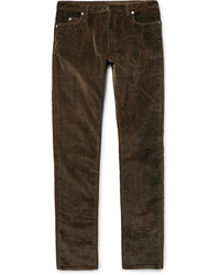Maison Margiela Slim Fit Stretch Cotton Corduroy Trousers