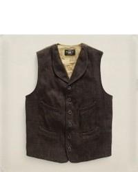 Dark Brown Corduroy Waistcoat