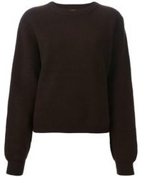 Dark Brown Crew-neck Sweater