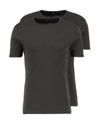 Base R T Ss 2 Pack Basic T Shirt Asfalt