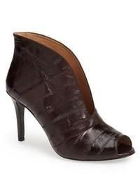 Vc signature ronan embossed leather peep toe bootie medium 78361