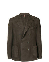 Dell'oglio Double Breasted Stripe Blazer