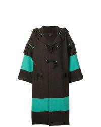 Alanui Contrast Stripe Oversized Coat