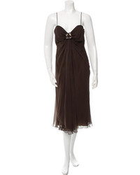 Moschino Embellished Silk Dress