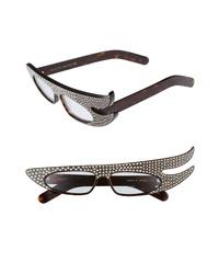Dark Brown Embellished Sunglasses