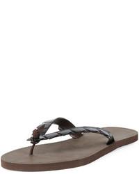 Dark Brown Flip Flops