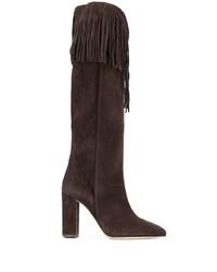 Paris Texas Fringed Knee High Boots