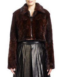 Dark Brown Fur Jacket