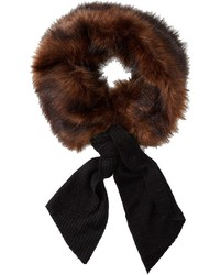 Dark Brown Fur Scarf