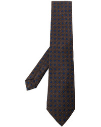 Dark Brown Geometric Tie