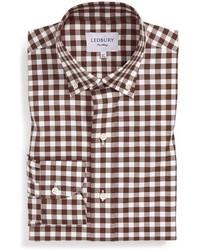 0943686dc22 £111, Ledbury Slim Fit Check Poplin Dress Shirt
