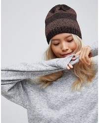 French Connection Stripe Knit Beanie Hat