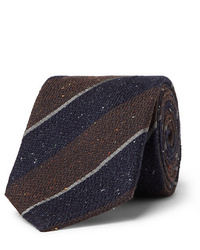 Canali 8cm Striped Silk And Wool Blend Tie