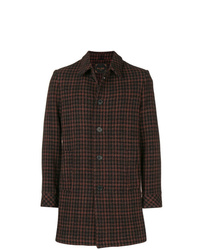 Paltò Houndstooth Single Breasted Coat