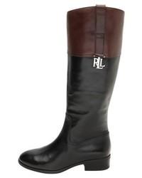 Ralph Lauren Burnished Merrie Boots Blackdark Brown