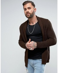 Ultimate knitted cardigan in brown medium 3744714