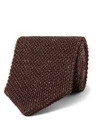 Caruso 6cm Knitted Silk And Linen Blend Tie