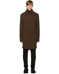 Dark Brown Knit Turtleneck