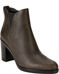 Dark Brown Leather Ankle Boots