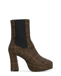 Nicole Saldaña Sam Plaid Boots