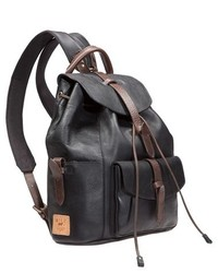 ... Will Leather Goods Rainier Leather Backpack Black ... a75ae1eef