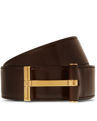 Tom Ford 4cm Dark Brown Leather Belt